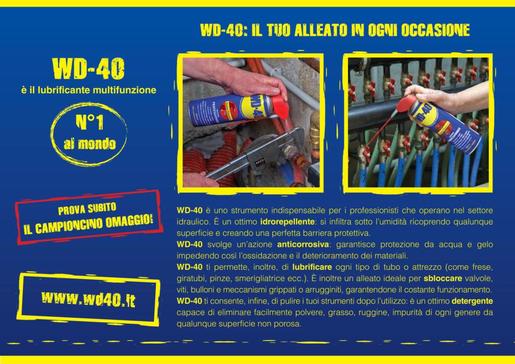 Direct mailing realizzato per WD-40, declinata per il settore idraulico.